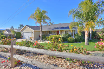 Santa Ynez Single Family Home For Sale: 1197 Tyndall Street