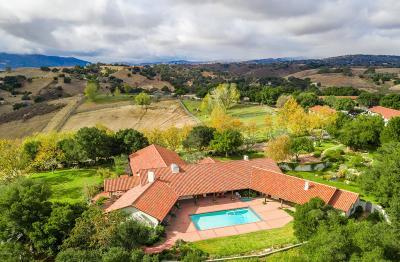 Ballard, Buellton, Los Alamos, Los Olivos, Santa Ynez, Solvang Residential Lots & Land For Sale: 1230 Fredensborg Canyon Road
