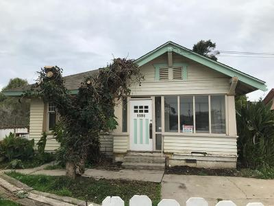 Santa Barbara County Single Family Home For Sale: 1181 Pacheco Street
