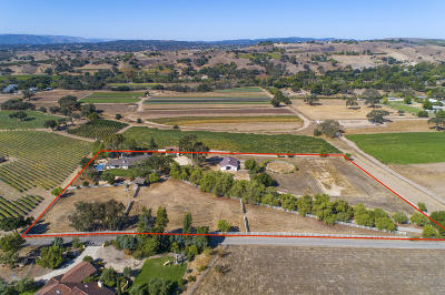 Santa Ynez Single Family Home For Sale: 2660 Ontiveros Road