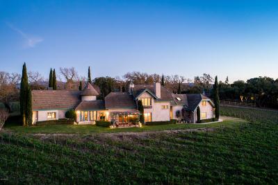 Santa Ynez Single Family Home For Sale: 1343 N Refugio Road