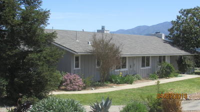 Solvang Single Family Home For Sale: 1240 Dove Meadow Road