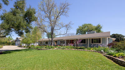 Santa Ynez Single Family Home For Sale: 1030 Highland Road