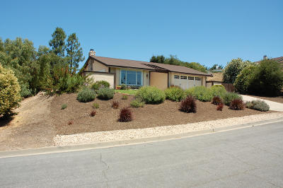 Solvang Single Family Home For Sale: 1483 Kronborg Drive