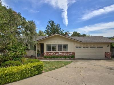 Monterey Single Family Home For Sale: 1 El Caminito Del Sur