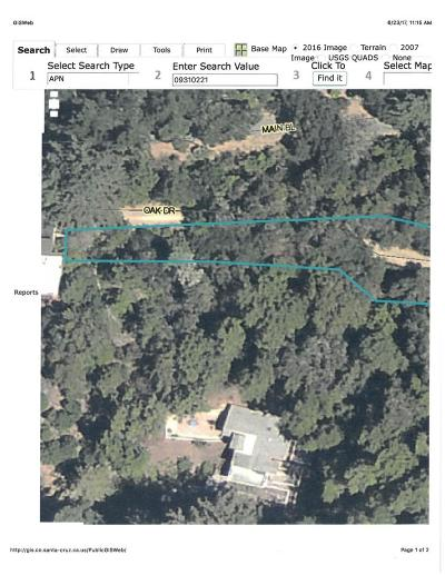 LOS GATOS Residential Lots & Land For Sale: Xoxo Oak Dr
