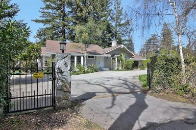 ATHERTON CA Single Family Home For Sale: $3,895,000