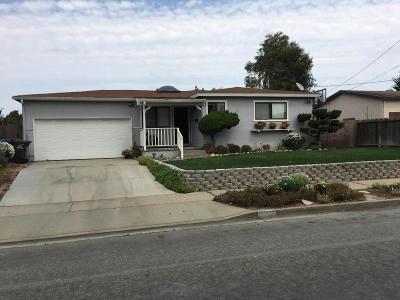 MARINA CA Single Family Home For Sale: $599,000
