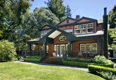 ATHERTON CA Single Family Home For Sale: $9,350,000
