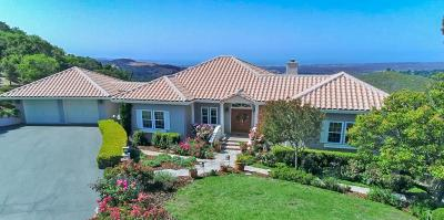 Monterey Single Family Home For Sale: 10255 Saddle Rd