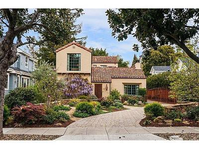 Palo Alto Single Family Home For Sale: 1117 Hamilton Ave