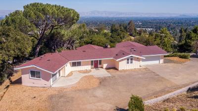 Saratoga Single Family Home For Sale: 21315 Saratoga Hills Rd