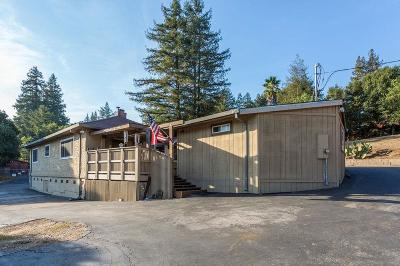 SCOTTS VALLEY CA Single Family Home For Sale: $825,000