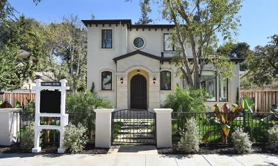 MENLO PARK Single Family Home For Sale: 755 Cambridge Ave