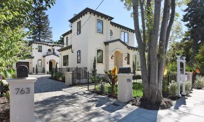 MENLO PARK Single Family Home For Sale: 763 Cambridge Ave