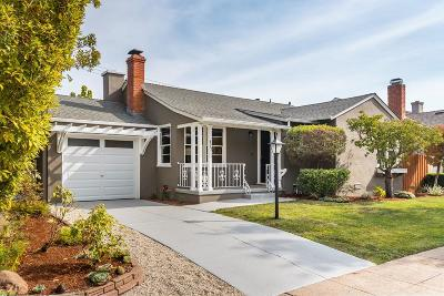 San Mateo Single Family Home For Sale: 927 Rosewood Dr