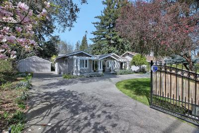 ATHERTON CA Single Family Home For Sale: $3,499,000