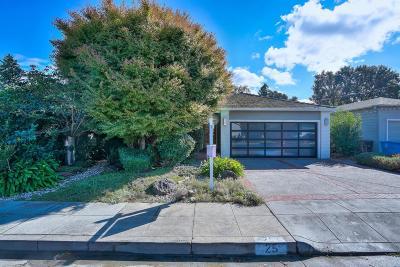 San Carlos Single Family Home For Sale: 25 Sunnydale Ave