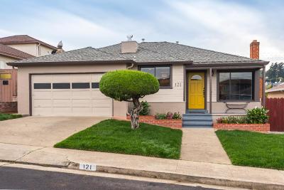 SOUTH SAN FRANCISCO CA Single Family Home For Sale: $899,000