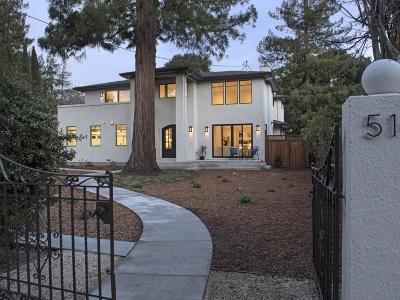 MENLO PARK Single Family Home For Sale: 514 Palmer Ln