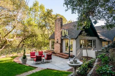 HILLSBOROUGH Single Family Home For Sale: 600 El Cerrito Ave
