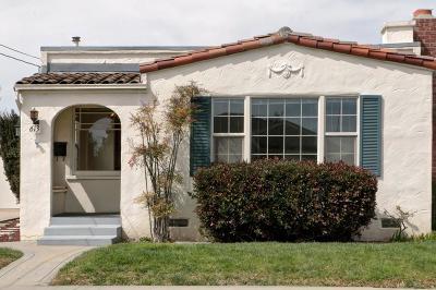 Santa Cruz County Single Family Home For Sale: 613 California St