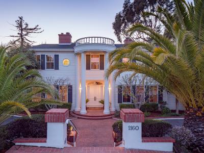 Hillsborough Single Family Home For Sale: 1160 Barroilhet Dr