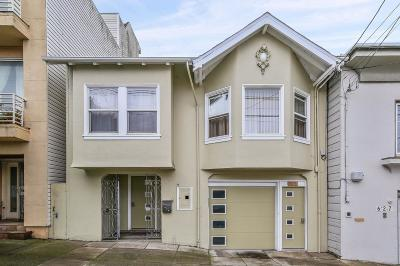SAN FRANCISCO Single Family Home For Sale: 631 19th Ave