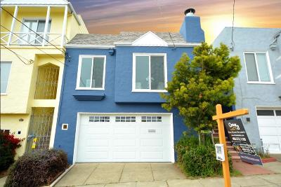 SAN FRANCISCO Single Family Home For Sale: 1942 Vicente St