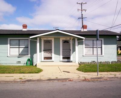 Santa Cruz County Single Family Home For Sale: 221/223 California St