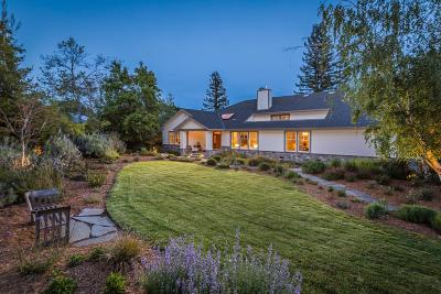 Portola Valley Single Family Home For Sale: 1 Applewood Ln