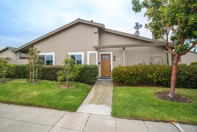 FOSTER CITY Townhouse For Sale: 1483 Marlin Ave