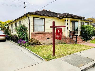 Santa Cruz County Single Family Home Contingent: 17 Dawson St