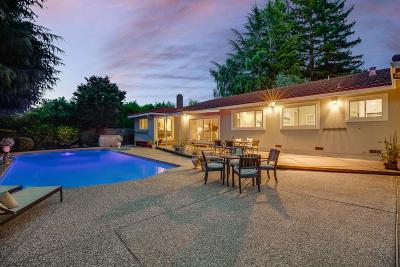 Portola Valley Single Family Home For Sale: 126 Brookside Dr