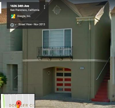 SAN FRANCISCO Single Family Home For Sale: 1622 34th Ave