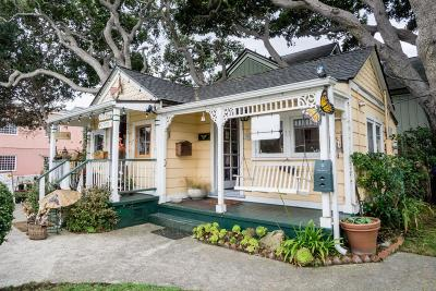 Pacific Grove Single Family Home For Sale: 623 Lighthouse Ave