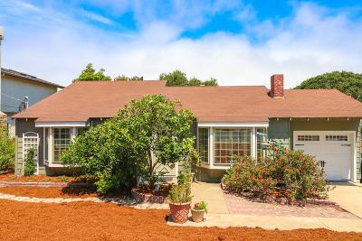 Monterey Single Family Home For Sale: 725 Airport Rd