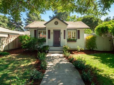 MENLO PARK Single Family Home For Sale: 124 Oak Ct