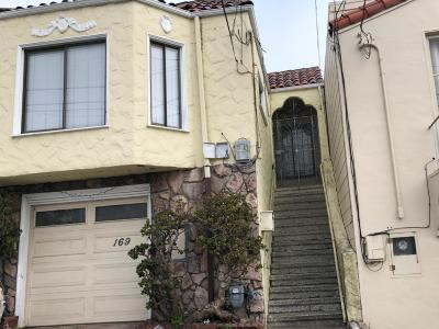 Daly City Single Family Home For Sale: 169 Parkview Ave
