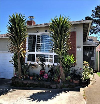 Daly City Single Family Home For Sale: 83 Southdale Ave