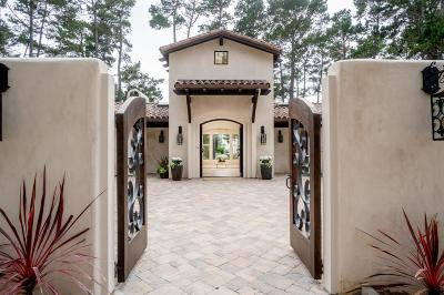 Pebble Beach Single Family Home For Sale: 1564 Deer Path