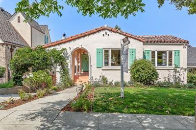Burlingame Single Family Home For Sale: 1446 Alvarado Ave.