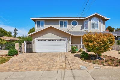 REDWOOD CITY Single Family Home For Sale: 523 Topaz St