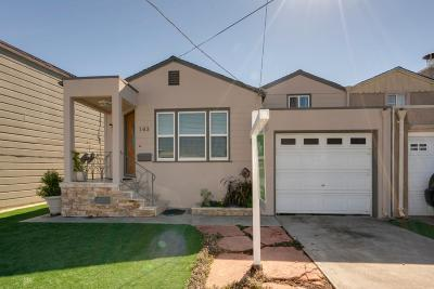 Brisbane, Colma, Daly City, Millbrae, San Bruno, South San Francisco Single Family Home For Sale: 163 Florida Ave