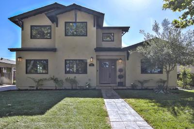 SAN JOSE Single Family Home For Sale: 2215 Parkwood Way