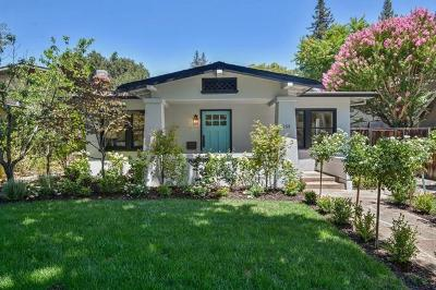 Palo Alto Single Family Home For Sale: 159 Waverley St