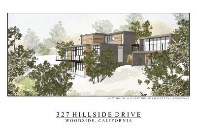 Belmont, Burlingame, Foster City, Hillsborough, Redwood City, Redwood Shores, San Carlos, San Mateo, Woodside Residential Lots & Land For Sale: 327 Hillside Dr