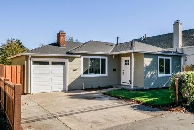 REDWOOD CITY Single Family Home For Sale: 165 Central Ave