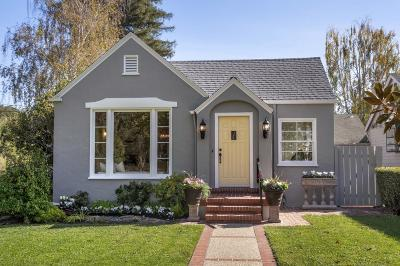 BURLINGAME Single Family Home For Sale: 1101 Oxford Rd