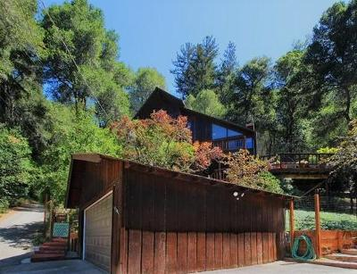 Santa Cruz County Single Family Home For Sale: 17384 Tressel Pass Rd